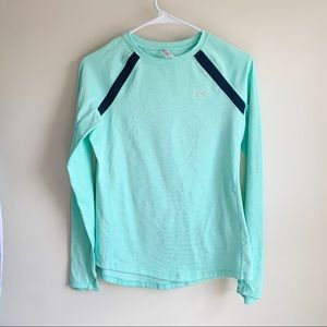 Under Armour Blue Thumbhole Tee T-shirt Athletic